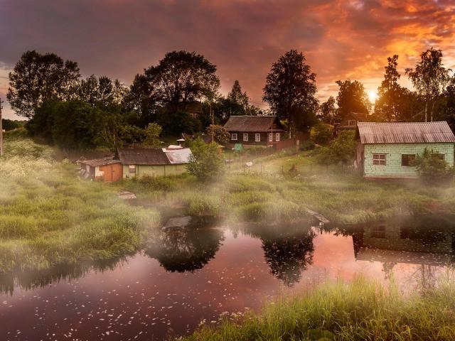 morning in the village utro