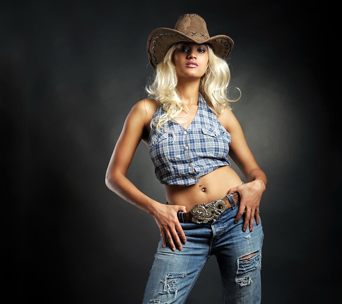 Blonde girl Cowboy Hat 501407