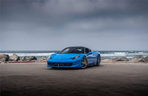 ferrari 458 blue