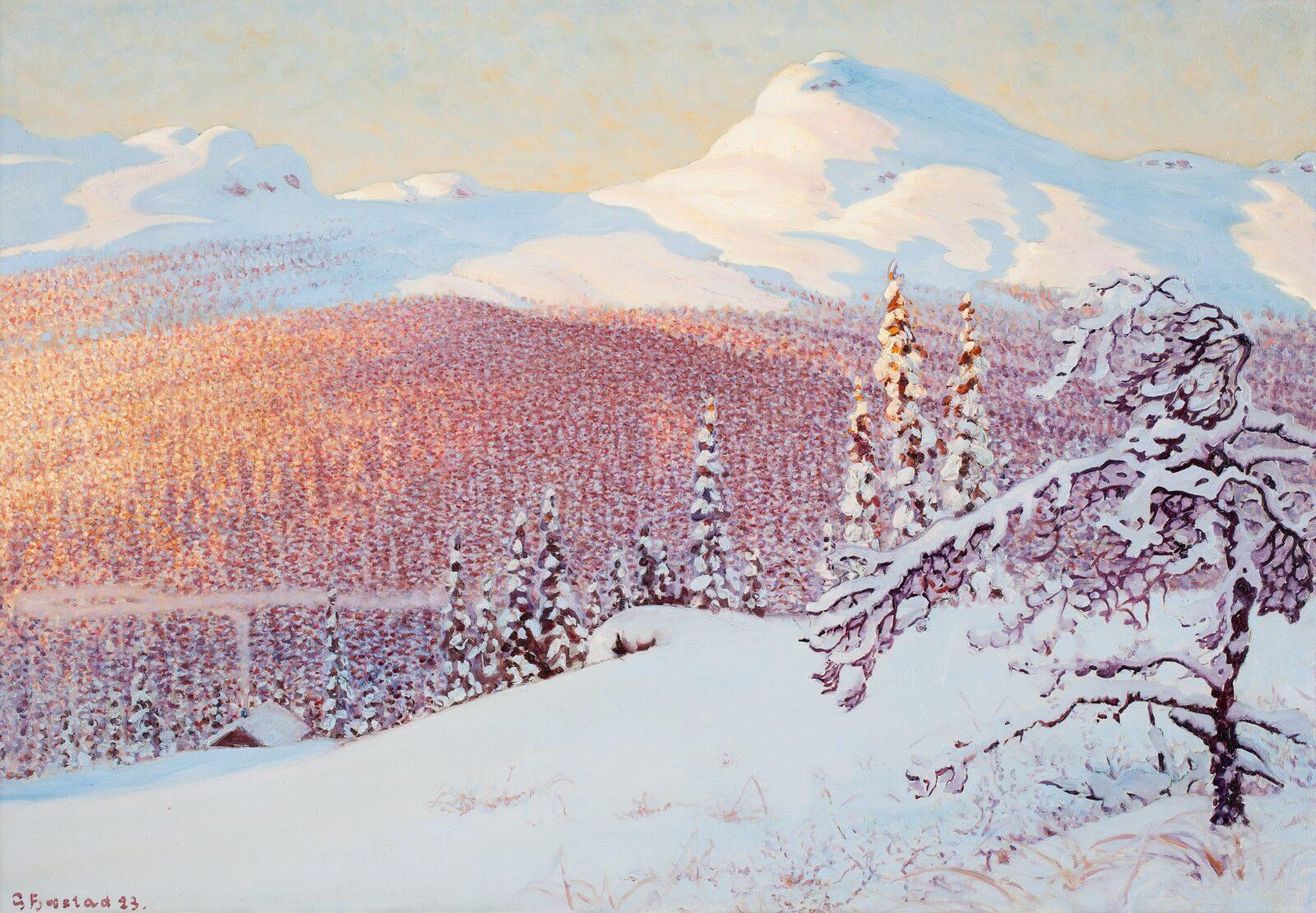 Зима в картинах Gustaf Fjaestad (Sweden,1868-1948)