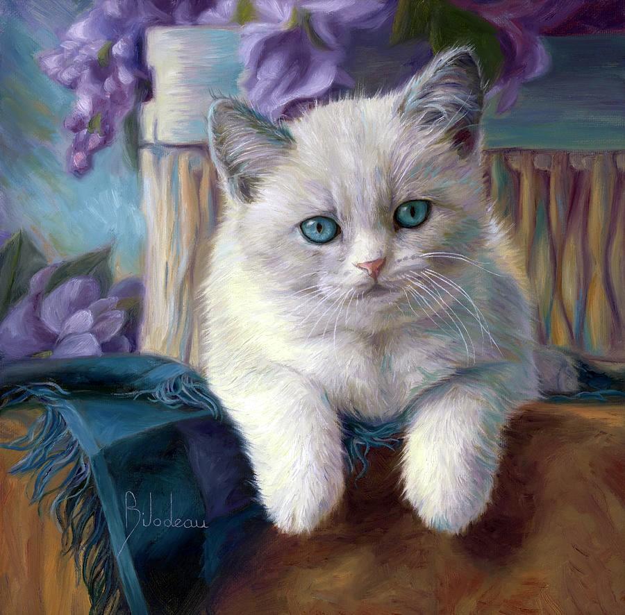 Дом не может без кота, без кота дом сирота... Художница Lucie Bilodeau