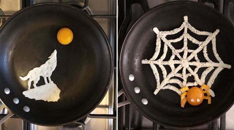 Мексиканка создаёт прямо на сковороде удивительные по своей красоте яичные завтраки
