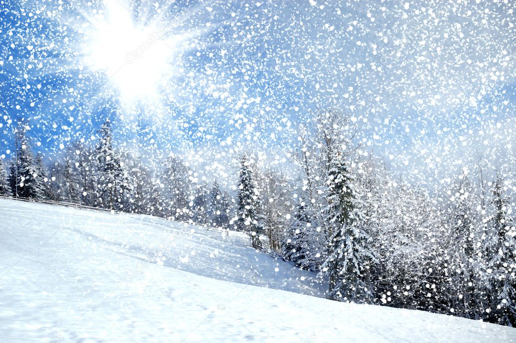 depositphotos 7338272 stock photo beautiful winter landscape with snow