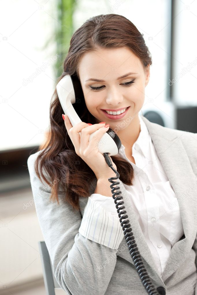 depositphotos 7324764 stock photo businesswoman with phone