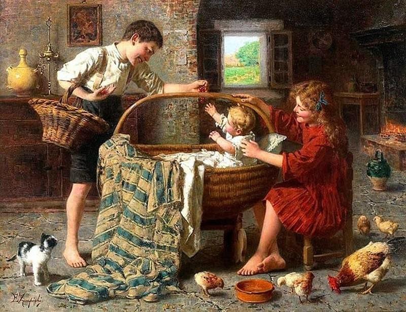 Итальянский художник Eugenio Eduardo Zampighi (1859 – 1944)