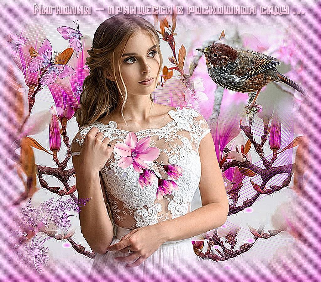«Магнолия — принцесса в роскошном саду»