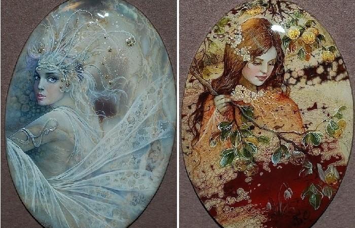 Виртуозные миниатюры на украшениях из натуральных камней, которые на Западе называют