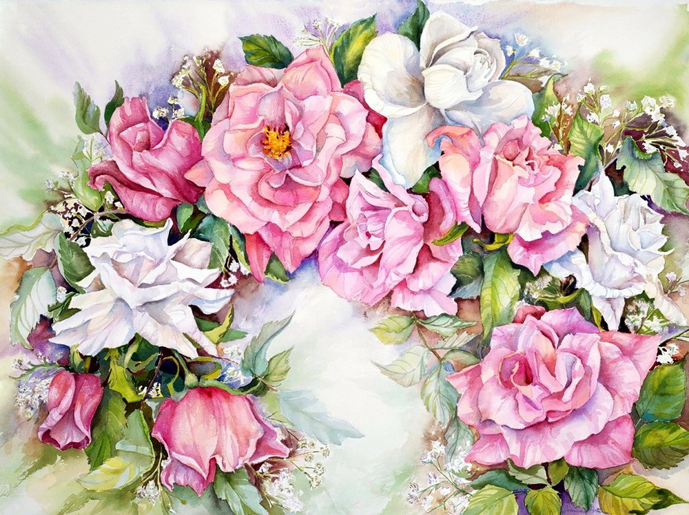 arch of pink and white roses yapfiles ru