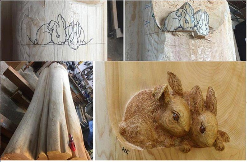 Художник делает скульптуры из поваленных деревьев (14 фото)