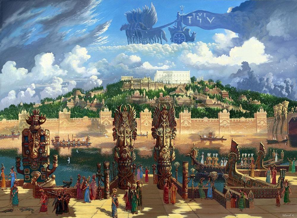 vid na centralnuyu chast stolicy atlantidy xram posejdona 2012