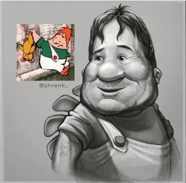 Ожившие персонажи советских мультгероев от Дениса Ширяева